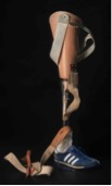 Terry Fox's prosthesis with which he ran the Marathon of Hope (1981)